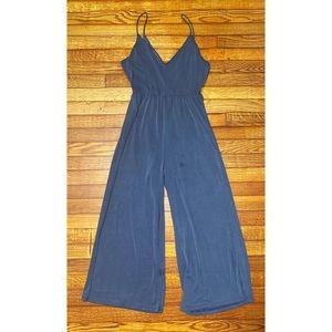 cotton cropped jumpsuit